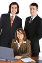 Young smiling business team Stock Photo