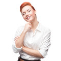 Young smiling business woman Stock Photo