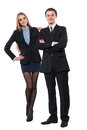 Young smiling business woman and business man Stock Photography