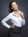 Young smiling businesswoman Stock Photography