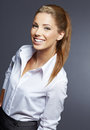 Young smiling businesswoman Royalty Free Stock Photography