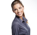 Young smiling businesswoman Stock Images