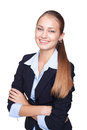 Young smiling businesswoman isolated on white Stock Image