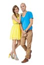 Young smiling couple in love portrait isolated Royalty Free Stock Photo