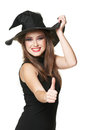 The  young smiling witch Stock Photography
