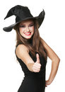 The  young smiling witch Royalty Free Stock Photography
