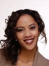 Young smilinig filipino hispanic woman portrait attractive smiling Royalty Free Stock Photos