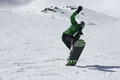 Young snowboard man sliding downhill sports and leisure Royalty Free Stock Image