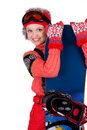 Young snowboarder Stock Photography