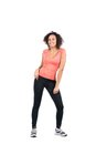 Young sportswoman doing zumba Stock Image