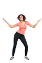Young sportswoman doing zumba Stock Photography