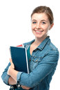 Young student girl with exercise books Stock Photography