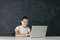 Young student with laptop Royalty Free Stock Images