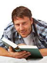 Young student reading Royalty Free Stock Photo