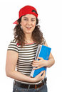 Young student woman with cap Stock Image