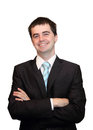 Young successful businessman smiling isolated on white background Royalty Free Stock Photos