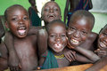 Young suri students having fun at a school in south omo ethiopia Stock Images
