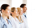 Young team or group of doctors healthcare and medical Stock Photo
