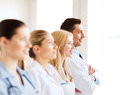 Young team or group of doctors healthcare and medical Stock Image