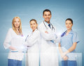 Young team or group of doctors healthcare and medicine concept Stock Photography