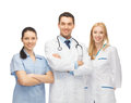 Young team or group of doctors picture Royalty Free Stock Photography