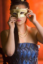 Young Teen woman at Masquerade Ball Royalty Free Stock Images
