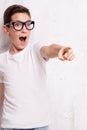 Young teenage boy posing. Royalty Free Stock Photo