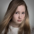 Young Teenage Girl Crying Royalty Free Stock Photo