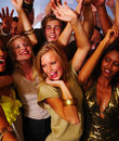 Young teenagers dancing at nightclub Royalty Free Stock Image