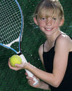 Young Tennis Player Stock Image