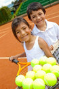 Young tennis players Royalty Free Stock Image
