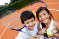 Young tennis players Stock Images