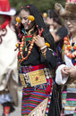 Young Tibetan woman in Yunnan Province Royalty Free Stock Image