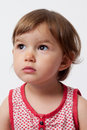 Young toddler thinking about her future Royalty Free Stock Photo