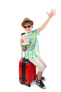 The young tourist with visa in passport Royalty Free Stock Photo