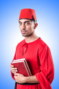 Young turk with book Royalty Free Stock Photo