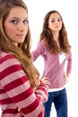 Young two friends standing together Royalty Free Stock Image