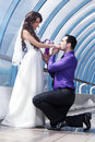 Young wedding couple Stock Image