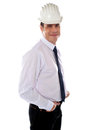 Young well dressed american constructor Royalty Free Stock Photos