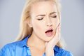 Young woman with bad tooth ache Royalty Free Stock Photo