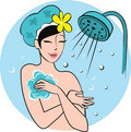 Young woman in the bath Royalty Free Stock Photo