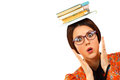 Young woman with books Royalty Free Stock Photo