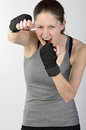 Young woman boxing Royalty Free Stock Photo