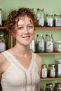 Young woman browsing for natural cures Royalty Free Stock Images