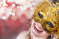 Young woman in carnival mask Royalty Free Stock Photo