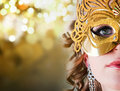 Young woman in carnival mask Royalty Free Stock Photography