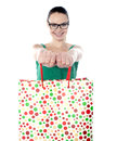 Young woman carrying shopping bags Royalty Free Stock Image