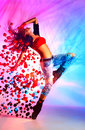 Young woman dancer modern dance with special effects Royalty Free Stock Photos