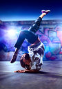 Young woman dancer on urban background Royalty Free Stock Images