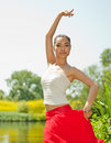 Young woman dancing Royalty Free Stock Photo